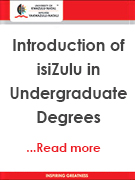 Introduction to isiZulu in Undergraduate Degrees